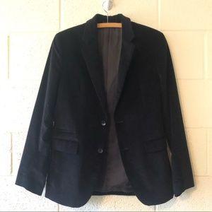 Theory Black Corduroy Sport Coat 2 Button Blazer